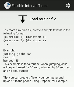 Load a routine from file